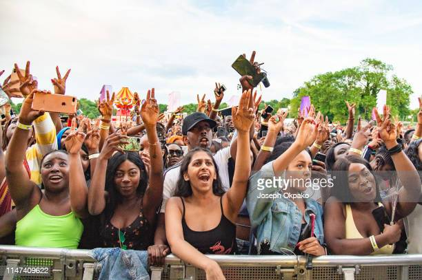 General view of the crowd on Day 2 at The Ends festival at Lloyd Park on May 31, 2019 in Croydon, England.