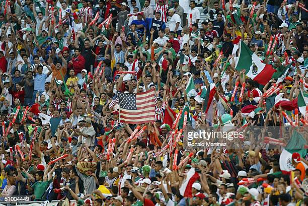 A general view of the crowd taken during an International Friendly match between of the USA national team and Mexico on April 28 2004 at the Cotton...