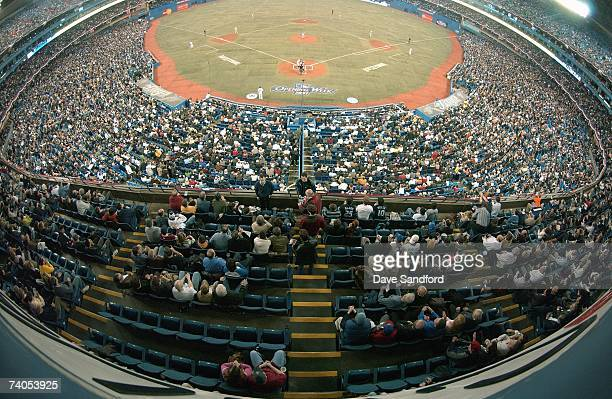 A general view of the crowd taken during the game between the Toronto Blue Jays and the Kansas City Royals during their MLB game at the Rogers Centre...