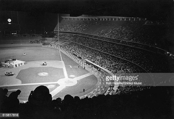 A general view of the crowd watching The Beatles at Dodger Stadium Los Angeles California August 28 1966