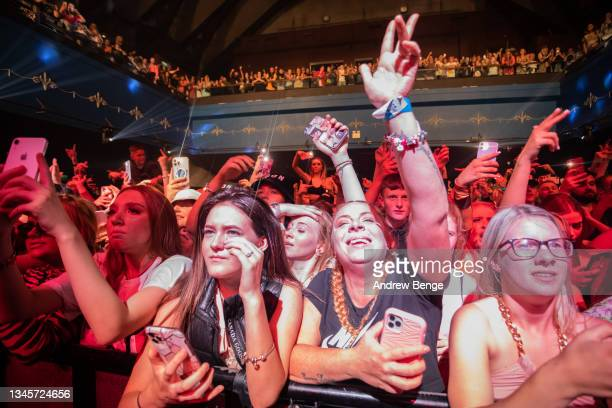 General view of the crowd while Bad Boy Chiller Crew perform at O2 Academy Leeds on October 09, 2021 in Leeds, England.