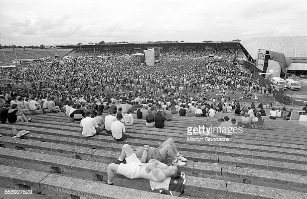 General view of the crowds at Feile Festival Semple Stadium in Thurles County Tipperary Ireland Ireland 1990
