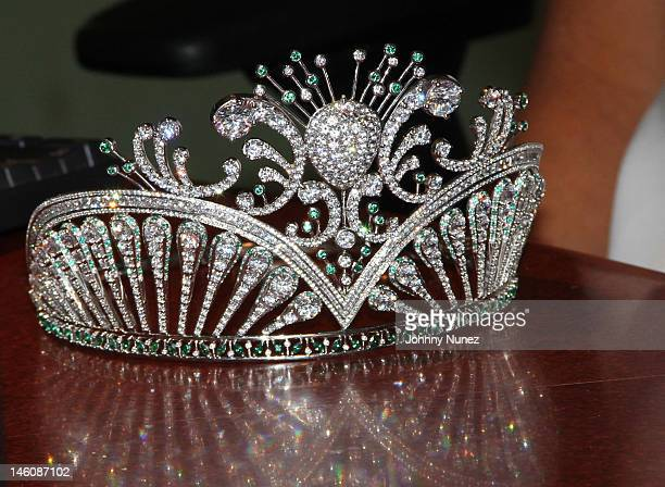 A general view of the crown of Miss USA Olivia Culpo at 'The Whoolywood Shuffle' at SiriusXM Studio on June 7 2012 in New York City