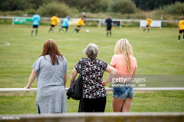 A general view of the Crows Nest football ground at Uppingham Fields on the coastal village of Borth 7 miles north of Aberystwyth in the county of...