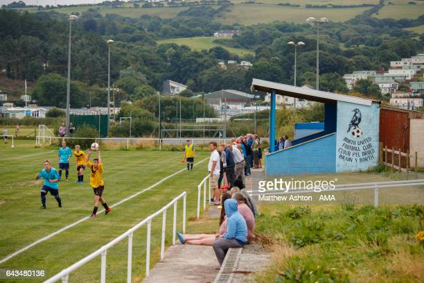 General view of the Crows Nest football ground at Uppingham Fields, on the coastal village of Borth, 7 miles north of Aberystwyth in the county of...
