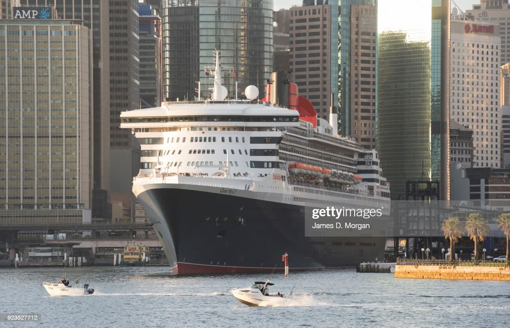 Cunard Ocean Liner Queen Mary 2 Arrives Into Sydney