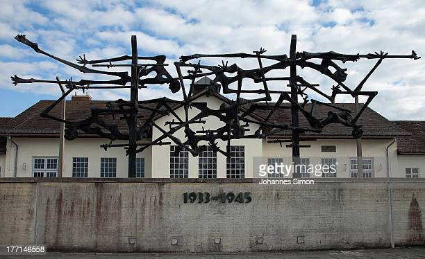 General view of the Dachau concentration camp memorial ahead of the visit of German Chancellor Angela Merkel on August 20 2013 in Dachau Germany...