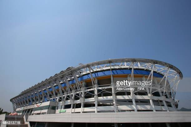 A general view of the Daejeon World Cup Stadium is seen ahead of the FIFA U20 World Cup on May 18 2017 in Daejeon South Korea
