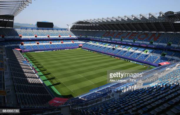 A general view of the Daejeon World Cup Stadium is seen ahead of the FIFA U20 World Cup on May 19 2017 in Daejeon South Korea