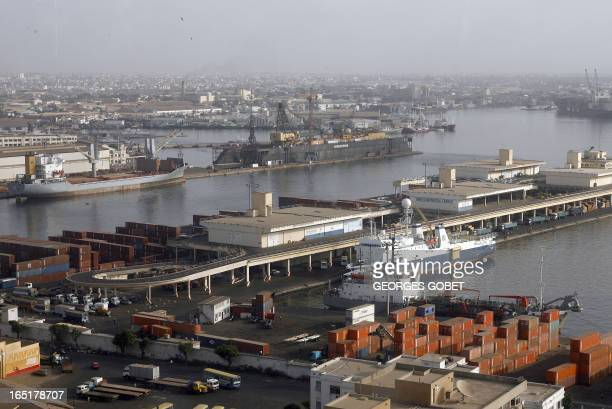 General view of the Dakar Port taken 03 July 2007 The French group Bollore lost the port concession against Dubai Ports World one of the world's...