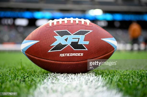 General view of the Dallas Renegades official game ball before the XFL game against the St. Louis BattleHawks at Globe Life Park on February 9, 2020...
