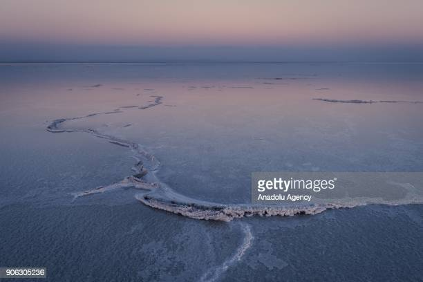 General view of the Danakil Depression, located 100 meters below sea level, is seen near Eritrea border in Afar, Ethiopia on November 28, 2017....