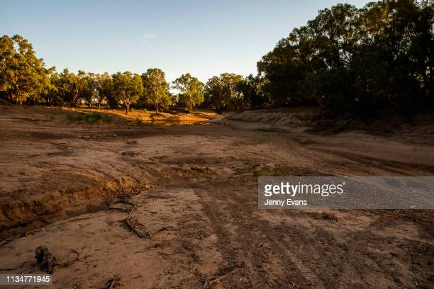 General view of the Darling-Barka river on March 05, 2019 in Wilcannia, Australia. The Barkandji people - meaning the river people - live in...