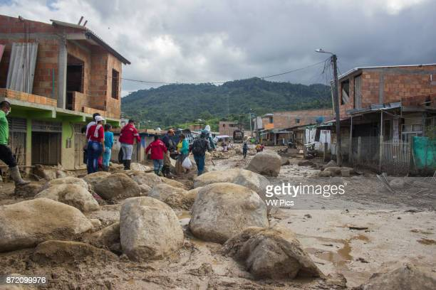 A general view of the debris after the avalanche in Mocoa Colombia 04 April 2017