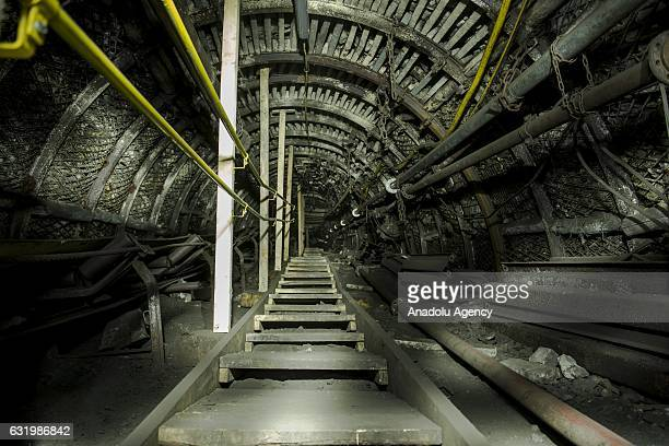 General view of the deepest historic coal mine in Europe, called Guido Mine in Zabrze, Poland on January 18, 2017. The Guido Mine has been opened to...