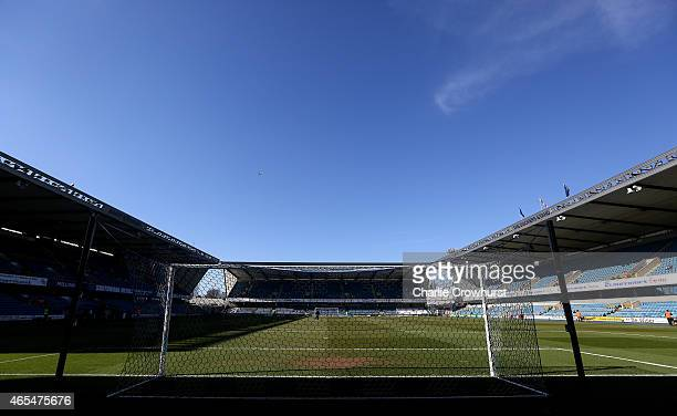 A general view of The Den before the Sky Bet Championship match between Millwall and Norwich City at The Den on March 07 2015 in London England
