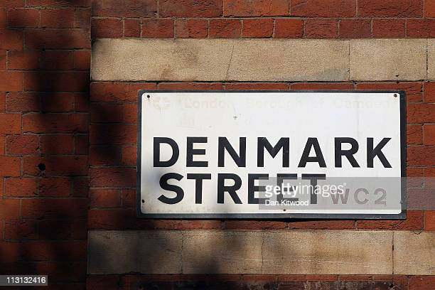A general view of the Denmark Street sign on April 20 2011 in London England Denmark Street in the Soho area of central London traces its musical...