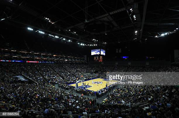 A general view of the Denver Nuggets and Indiana Pacers during the NBA Global game at the O2 Arena London