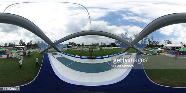General view of the Deodoro Stadium during the Modern Pentathlon Tournament - Aquece Rio Test Event for the Rio 2016 Olympics at Deodoro Olympic Park...