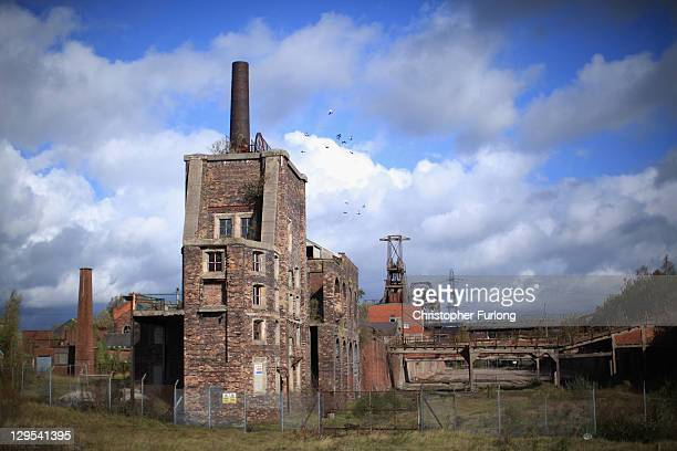 A general view of the derelict Chatterley Whitfield Colliery the most comprehensive surviving deep mine site in England on October 18 2011 in Stoke...