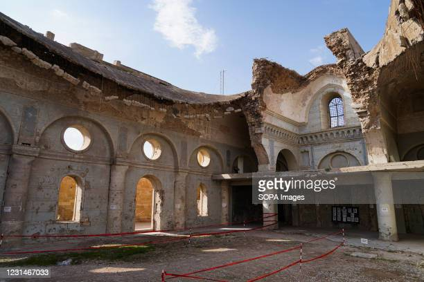 General view of the destroyed Immaculate Syriac Catholic Church . The Immaculate Syriac Catholic Church in the Hosh Al-Bieaa region. This region...