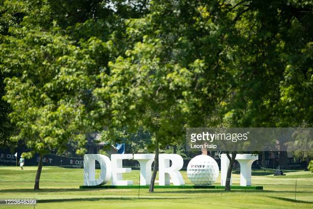 General view of the Detroit Golf Logo at the Detroit Golf Club during the practice session for the Rocket Mortgage Classic on June 30, 2020 in...