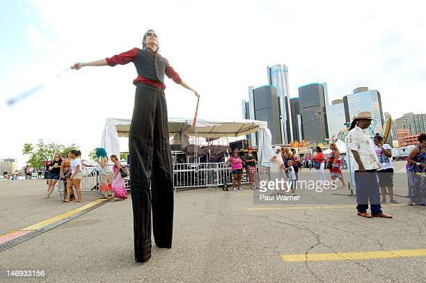 General view of the Detroit River Days Festival at the Detroit RiverWalk on June 22 2012 in Detroit Michigan