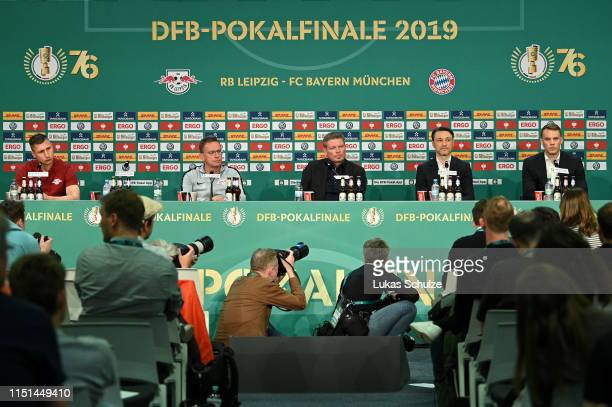 A general view of the DFB Cup Final 2019 press conference at Olympiastadion on May 24 2019 in Berlin Germany