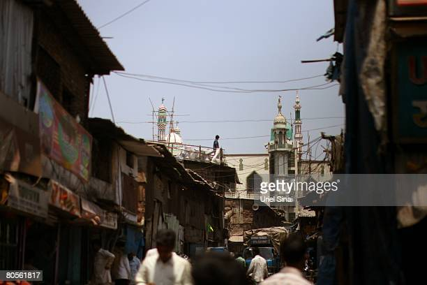 A general view of the Dharavi slum said to be 'Asia's largest slum' April 2008 in Mumbai India A city redevelopment program to convert this prime...