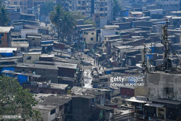 A general view of the Dharavi slums during a governmentimposed nationwide lockdown as a preventive measure against the spread of the COVID19...