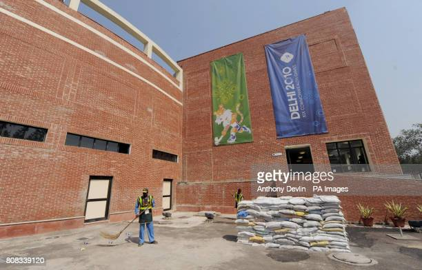 General view of the Dhyan Chand National Stadium the venue for hockey during the 2010 Commonwealth Games in New Delhi India