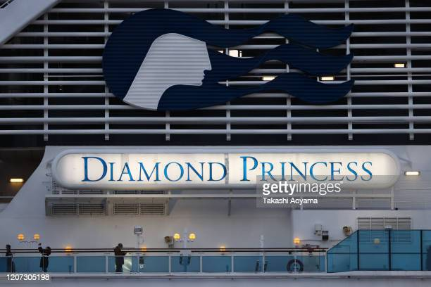 A general view of the Diamond Princess cruise ship at Daikoku Pier on February 19 2020 in Yokohama Japan About 500 passengers who have tested...