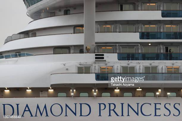 A general view of the Diamond Princess cruise ship at Daikoku Pier on February 20 2020 in Yokohama Japan About 500 passengers who have tested...