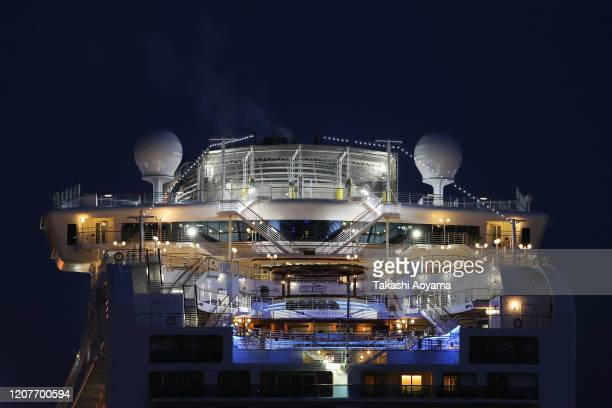 A general view of the Diamond Princess cruise ship at Daikoku Pier on February 21 2020 in Yokohama Japan Passengers who have tested negative for the...