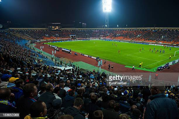 General view of the Dinamo Stadium home of FC BATE Borisov taken during the UEFA Champions League group stage match between FC Bayern Muenchen and FC...