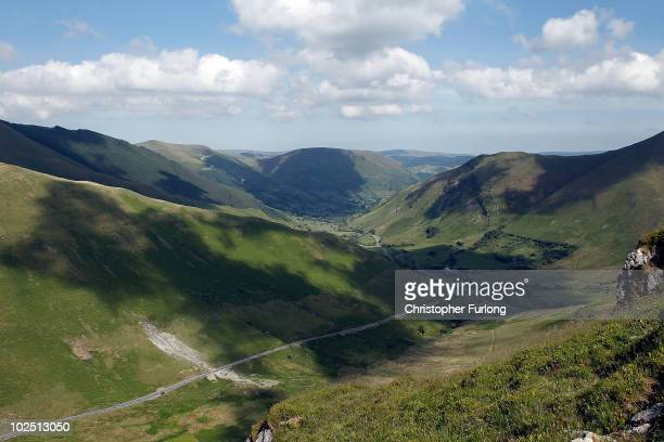 A general view of the Dinas Pass known in the aviation world as the Mach Loop which attracts plane spotters from all over the world on June 22 2010...