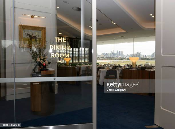 General view of The Dining Room during a media preview of the new Club Stand at Flemington Racecourse on September 10 2018 in Melbourne Australia The...