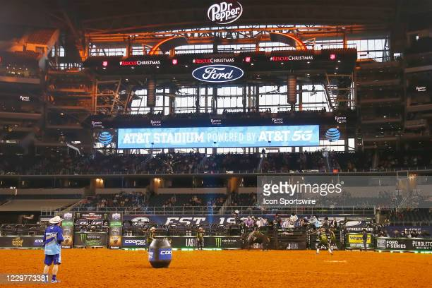 General view of the dirt during the PBR World Finals, on November 15th at the AT&T Stadium, Arlington, TX.