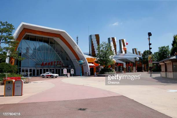 General view of the Disneyland Paris and Walt Disney studio parks closed due to the Coronavirus epidemic on May 28, 2020 in Paris, France. The...