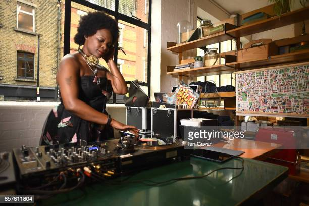 A general view of the DJ at the launch of the ad campaign film 'Back To Work' sealing the artistic collaboration between Kaspersky Lab and Ben Eine...