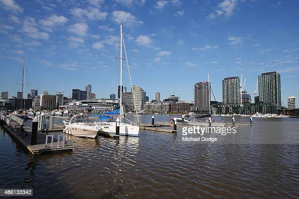 A general view of the Docklands Precinct is seen on August 24 2015 in Melbourne Australia