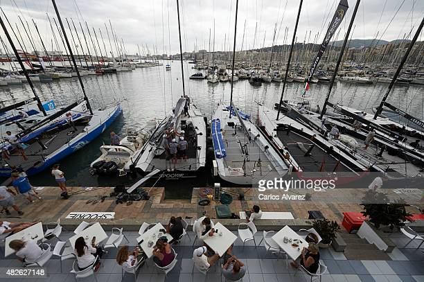 General view of the docks days races ahead the beginning of the 34th Copa del Rey Mapfre Sailing Cup at the Royal Nautical Club on August 01 2015 in...