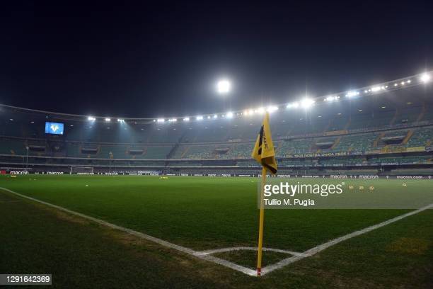 General view of the dome before the Serie A match between Hellas Verona FC and UC Sampdoria at Stadio Marcantonio Bentegodi on December 16, 2020 in...