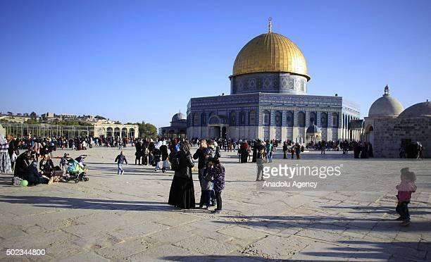 General view of the Dome of the Rock during the 1445th anniversary of the birthday of Prophet Mohammad Mawlid al Nabi in Eastern Jerusalem on...
