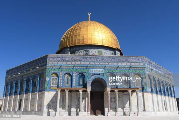 A general view of the Dome of the Rock mosque at the AlAqsa mosques compound in the Old City of Jerusalem With 29 Israelis and 19 Palestinians tested...