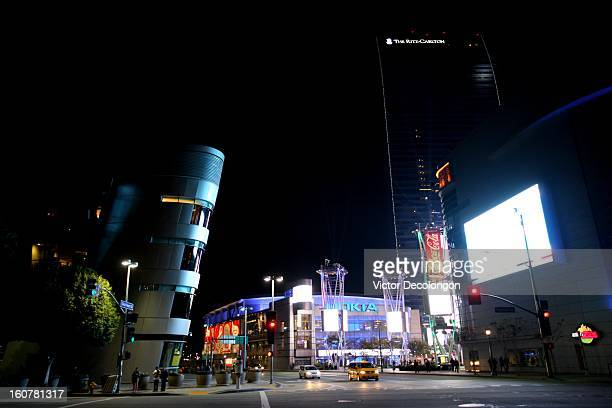 General view of the downtown entertainment area of Staples Center and Nokia Live on March 3, 2011 in Los Angeles, California.