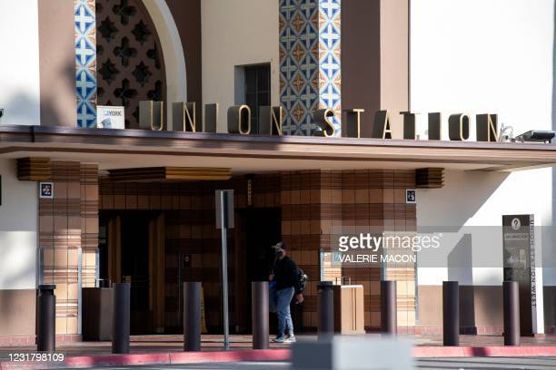 General view of the Downtown Los Angeles Union Station on March 18 where part of the 2021 Oscars Ceremony will take place. - Academy president David...