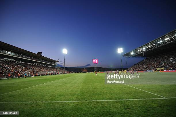 General view of the Dr. Constantin Radulescu Stadium, home of CFR 1907 Cluj taken during the Romanian Liga 1 match between CFR 1907 Cluj and FC...