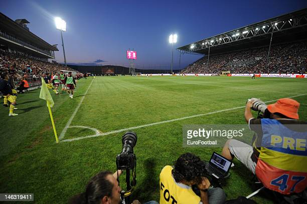 General view of the Dr Constantin Radulescu Stadium home of CFR 1907 Cluj taken during the Romanian Liga 1 match between CFR 1907 Cluj and FC Steaua...