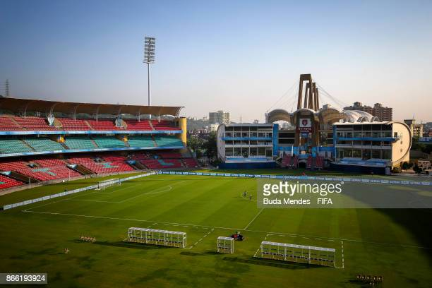 General view of the Dr DY Patil Cricket Stadium ahead the FIFA U17 World Cup India 2017 Semi Final match between Mali and Spain on October 25 2017 in...